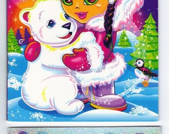 Lisa Frank My Sticker Collection Mini Album Book  with Stickers ESKIMO