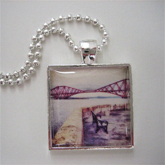 Forth Rail Bridge Pendant - Scottish Pendant - Photo Pendant