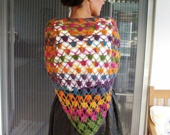 SALE %50 OFF-Autumn colour Mohair Shawl, Scarf,Christmas Gift