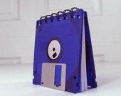 Floppy Disk Notebook Neon Royal Purple Recycled Geek Gear Blank
