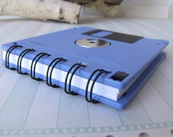 Floppy Disk Mini Notebook in Lilac Recycled Geek Gear Blank