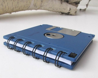 Floppy Disk Mini Notebook in Brilliant Blue Recycled Geek Gear Blank
