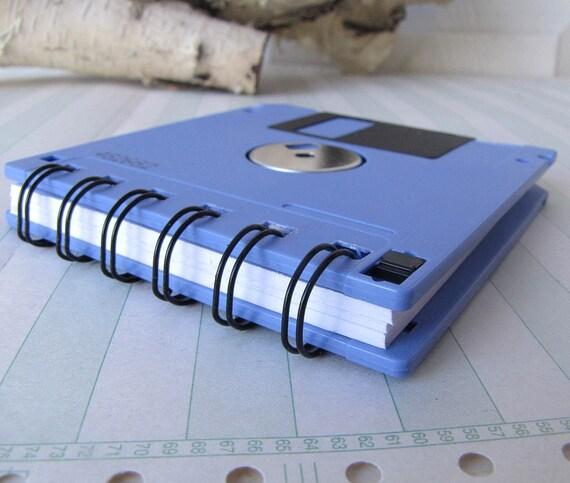 Floppy Disk Mini Notebook in Lilac Recycled Geek Gear Blank