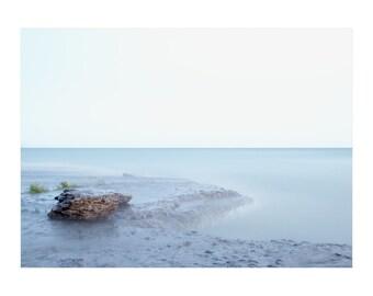Blue Wall Art - Minimalist Photography - Beach Decor for Living Room - Soothing Zen Wall Art - Lake House - Sandbanks Prince Edward County