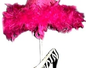 Whimsical Funky Zebra Print High Heel Shoe Lamp