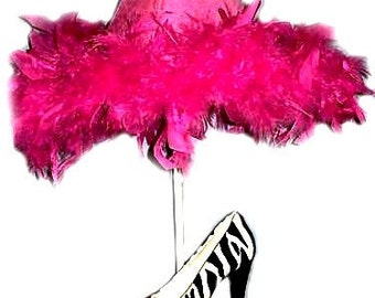 Whimsical Funky Zebra Print High Heel Shoe Lamp