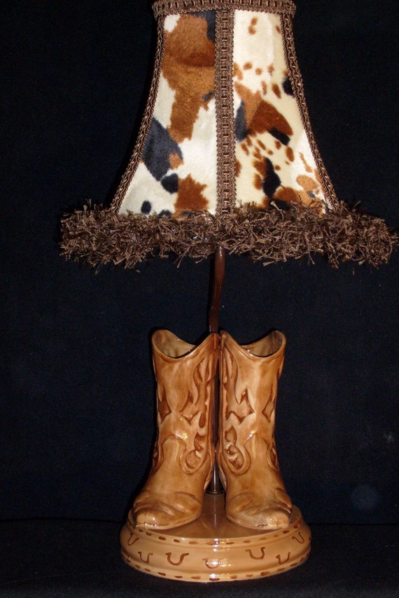 Cowboy Boot Lamp - Western Decor