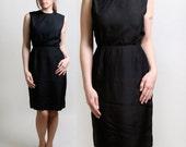 1960s Wiggle Dress - Vintage Little Black Dress - Small Winter Fashion