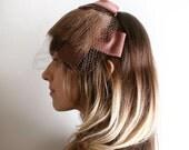 Fur Veil Hat - Choclate Brown Fur Bangs Cap
