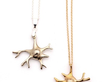 Bronze Glial Cell Necklace