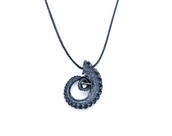 Black Silver Tentacle Necklace