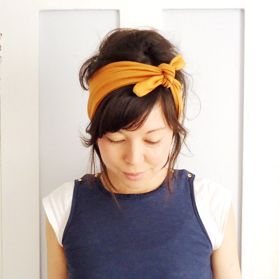 Tie Up Headscarf Mustard