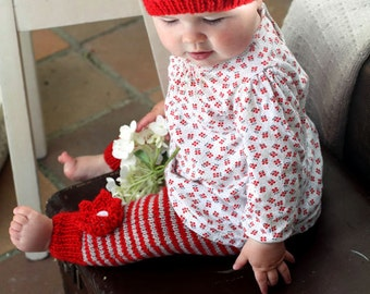Anna Rose Hat and Leggings - Baby Cakes by lisaFdesign - Download Now - Pattern PDF