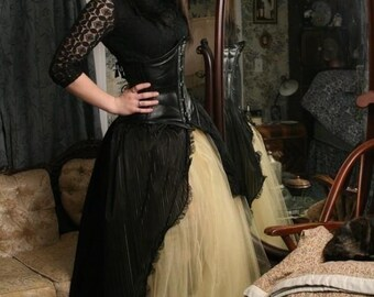 Custom Color Victorian Beauty Ball gown prom skirt steampunk wedding bridal --You choose size -- Sisters of the Moon