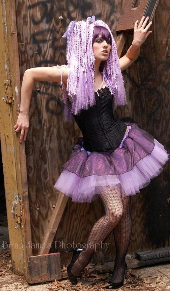 Adult tutu skirt Sparkle Lavender wild dance costume roller derby gothic halloween run club rave --You Choose Size -- Sisters of the Moon