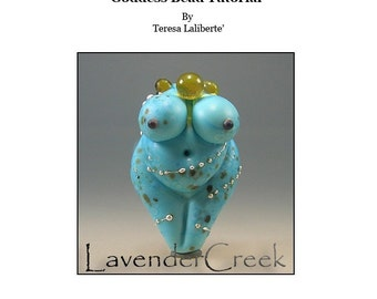 Lampwork Tutorial - Glass Art Sculpting Tutorial - Create a   Goddess Bead - An Introduction into Sculpting with Glass - LavenderCreek Glass