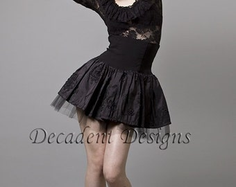 High Waisted Taffeta Skirt -Made to measure