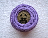 DMC Perle Cotton Thread 209 Size 8 Dark Lavender