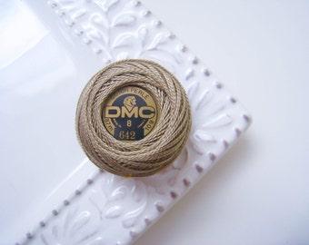 DMC 642 Dark Beige Gray Perle Cotton Balls Size 8
