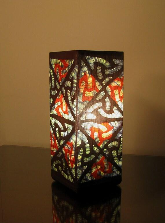 Batik Accent Lamp (Celtic Triangles)