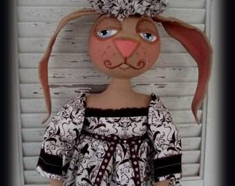 Primitive Folk Art Spring Bunny - Bethany epattern