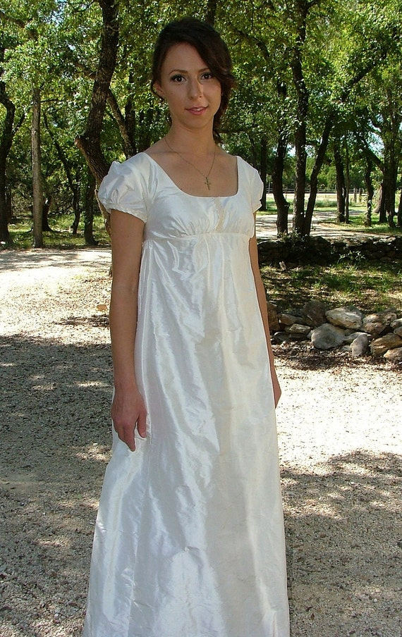 Items similar to regency jane austen wedding dress or ball for Period style wedding dresses