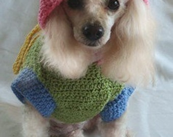 Crochet Pattern - Dog Clothes - Dog Raincoat with Hood