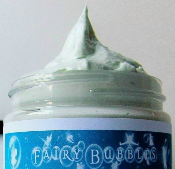 Cucumber & Cantaloupe Whipped Soap, Cream Soap, Body Washes, Fluffy Whip, Vegan Soaps, Whipped Cream Soaps, 4 oz jar, by fairybubbles