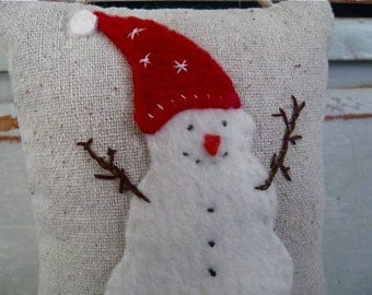 READY TO SHIP little snowman ornament
