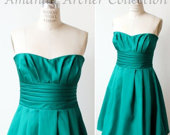 Emerald Green Dress, Bridesmaid, Made to Order, more colors