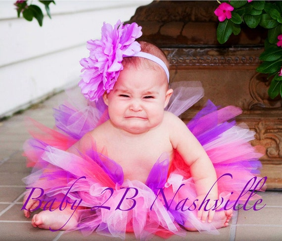 Baby Purple  Birthday Bash Tutu