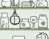 fish art print: isolated elements