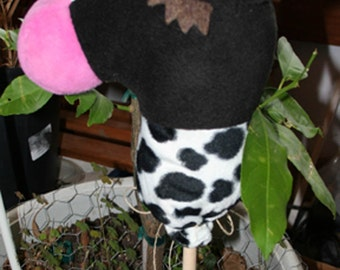 Mini Stick Moo Cow Collectable Doll Size Plush Animal by Nebraska Designer Kim Loberg