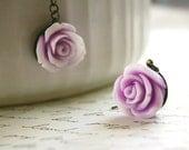 CLEARANCE SALE Lavender Rose Earrings