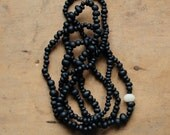 Black Sheep extra long beaded necklace
