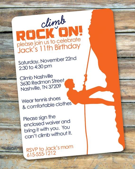 Rock climbing rock on birthday invitation by swanky press il570xn filmwisefo