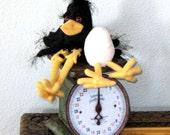 Primitive Crow Doll, PDF Pattern, Crow Doll, Raven, Egg, Crow