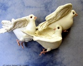 PDF Pattern, Doves, Birds, Sewing Pattern, Soft Sculpture, Wall Hanging, Primitive Bird