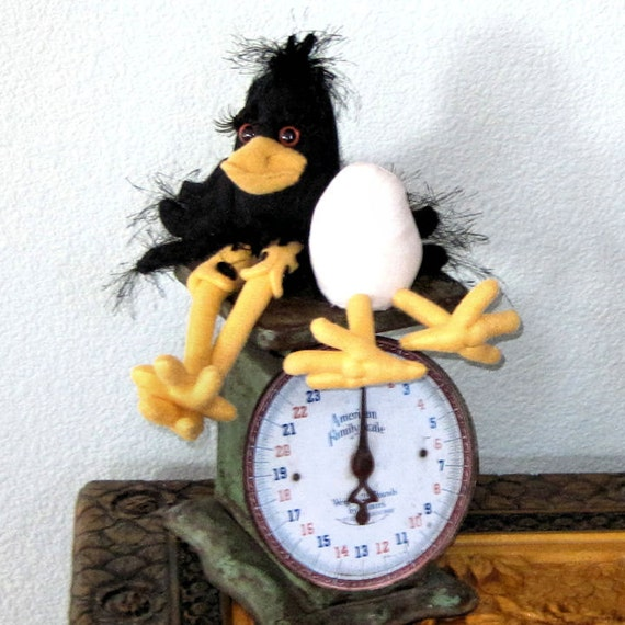 Primitive Crow Doll, PDF Pattern, Crow Doll, Raven, Egg, Crow