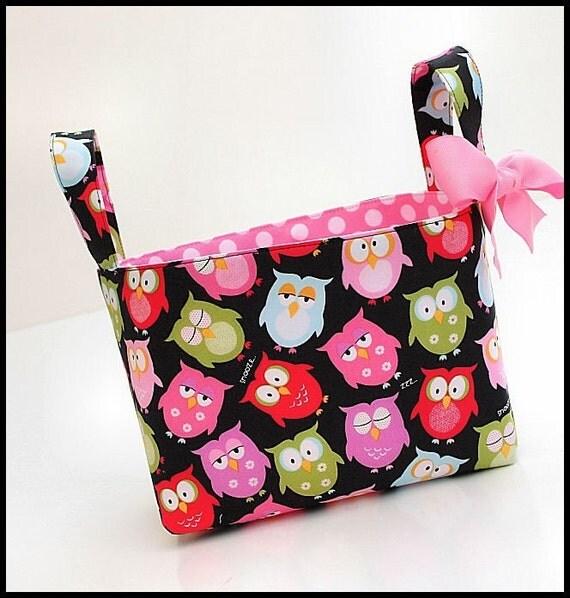 Organizer storage fabric Basket Bin OWLS