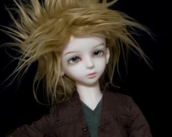 BJD Wig Caramel faux fur doll wig SIZE CHOICE