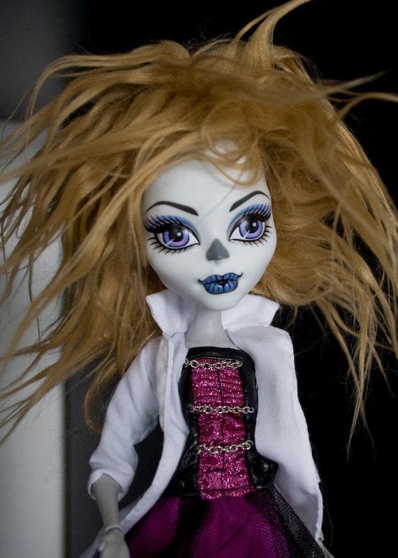"""Caramel 5"""" faux fur doll wig for Pukifee PKF BJDs, Monster High"""