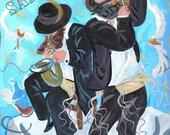 Kleizmer Music Print Wall Art Decor Judaica Chassid