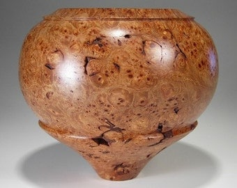 Decorative Bowl Woodturned  Maple Burl
