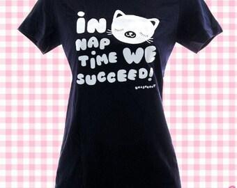 In Naptime We Succeed Ladies Tee - Size 1X - Plus