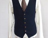 Size 38 Vintage Navy Vest