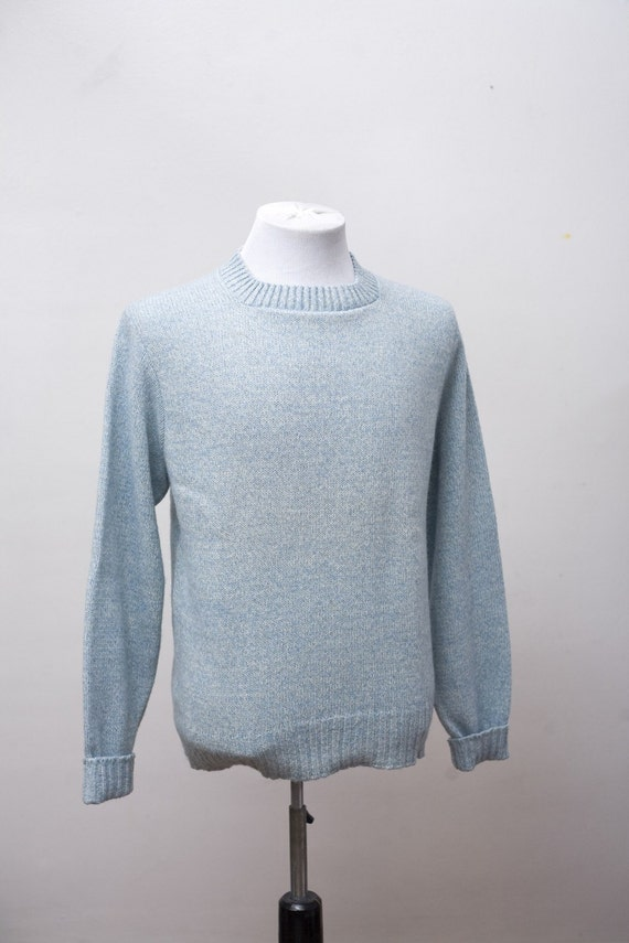 Men's Sweater / Vintage Sky Blue Sweater by Brentwood / Size Medium