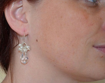 Crystal & Pearl Earrings
