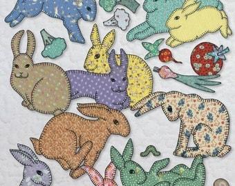 Pattern Book -- Grandma's Bunnies -- Applique Quilting Book