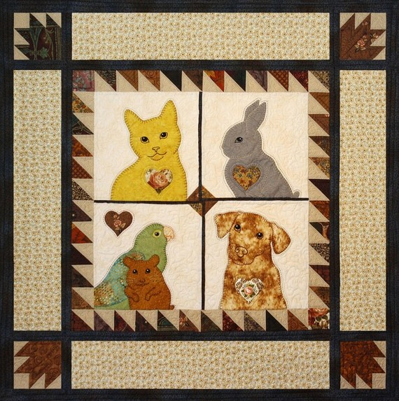 Can't We All Get Along -- Applique Animal Baby Quilt Pattern